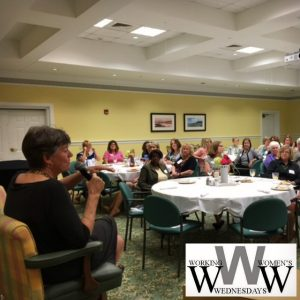 Kathy Hykes at Working Women's Wednesday in August 2017.