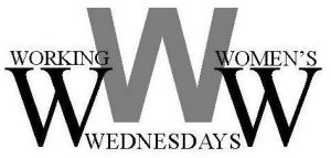 Working Women's Wednesdays Logo in Black & White